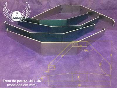 Produtos em Destaque: TREM DE POUSO 40 / 46 MEDIDAS EM MM C/ 3 PCT