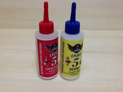 Produtos em Destaque: COLA EPOXI 5 MIN 120g  REPARO SUPER RAPIDO KIT C/ 3