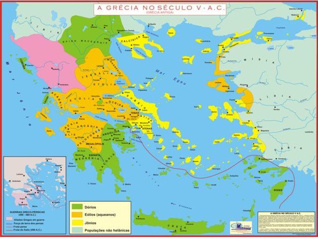 Mapas E Globos Mapas Historicos Mapa Laminado Grecia Antiga